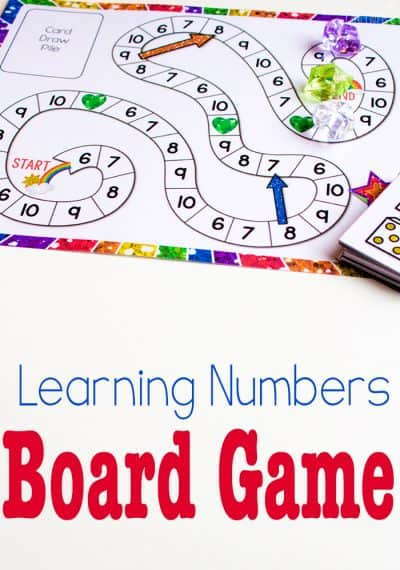 This free printable counting game is perfect for kids who have mastered counting to 5 and need more of a challenge. Learn numbers 6-10 with your preschooler using the fun ideas from the TeachECE team!