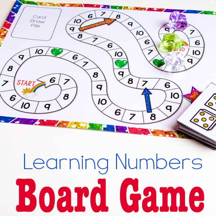 picture relating to Printable Board Games known as Totally free Printable Counting Video game: Quantities 6-10 - Everyday living Around Cs