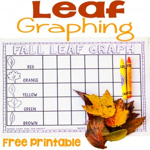 Free leaf graphing printable. Perfect for fall math and learning colors!