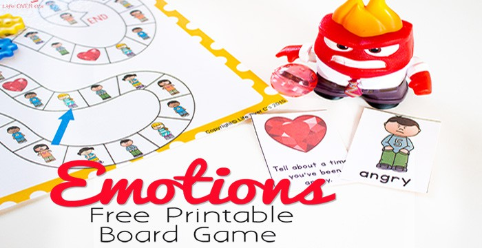 photograph relating to Printable Emotions Cards named Absolutely free Printable Feelings Board Recreation
