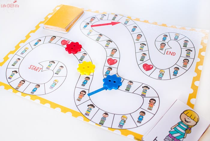 this free printable emotions board game is perfect for kids who need help learning how to