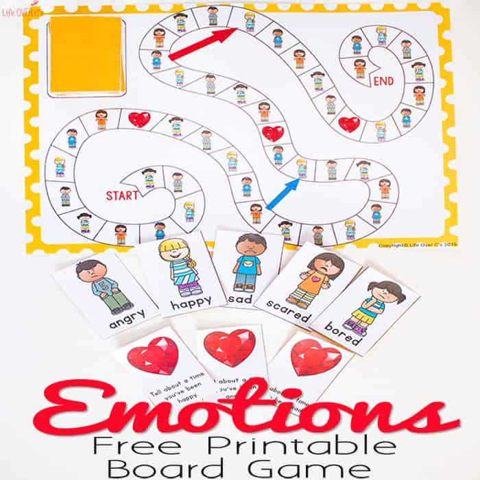 Free Printable Emotions Board Game
