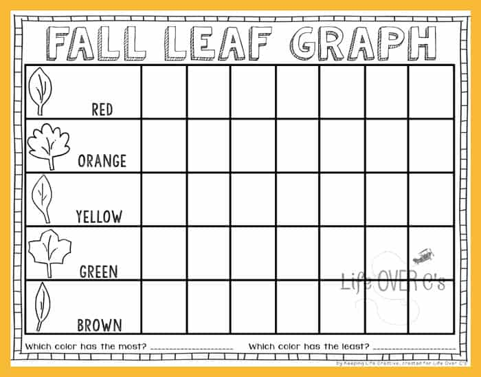 Fall Leaf Graphing Activity and Printable - Life Over Cs