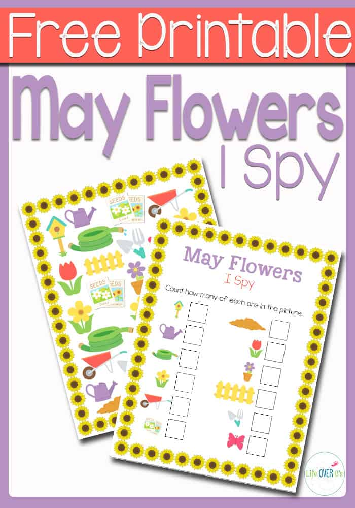 May Flowers I Spy Activity for Preschoolers