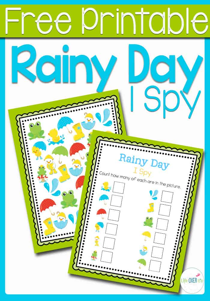 This Rainy Day I Spy is the perfect introduction to the rainy days of April for your preschoolers! Practice counting, matching, and visual discrimination while building language skills to familiarize them with words that they will be hearing during the beginning of spring.