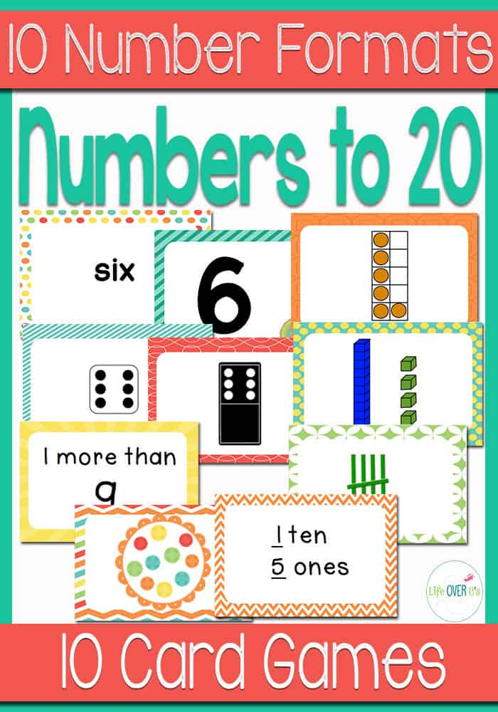 Kindergarteners will have so much fun learning numbers to 20 in many formats with these familiar card games! You can easily customize them for the needs of your students.