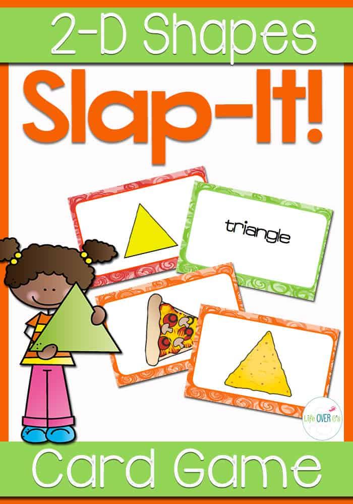 2D Shape Slap-It! Card Game Math Center