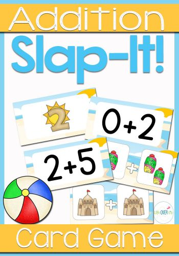 Have fun learning addition fact families with this super fun card game! This addition fact family game is based on the traditional game of Slap Jack and kids LOVE to play!