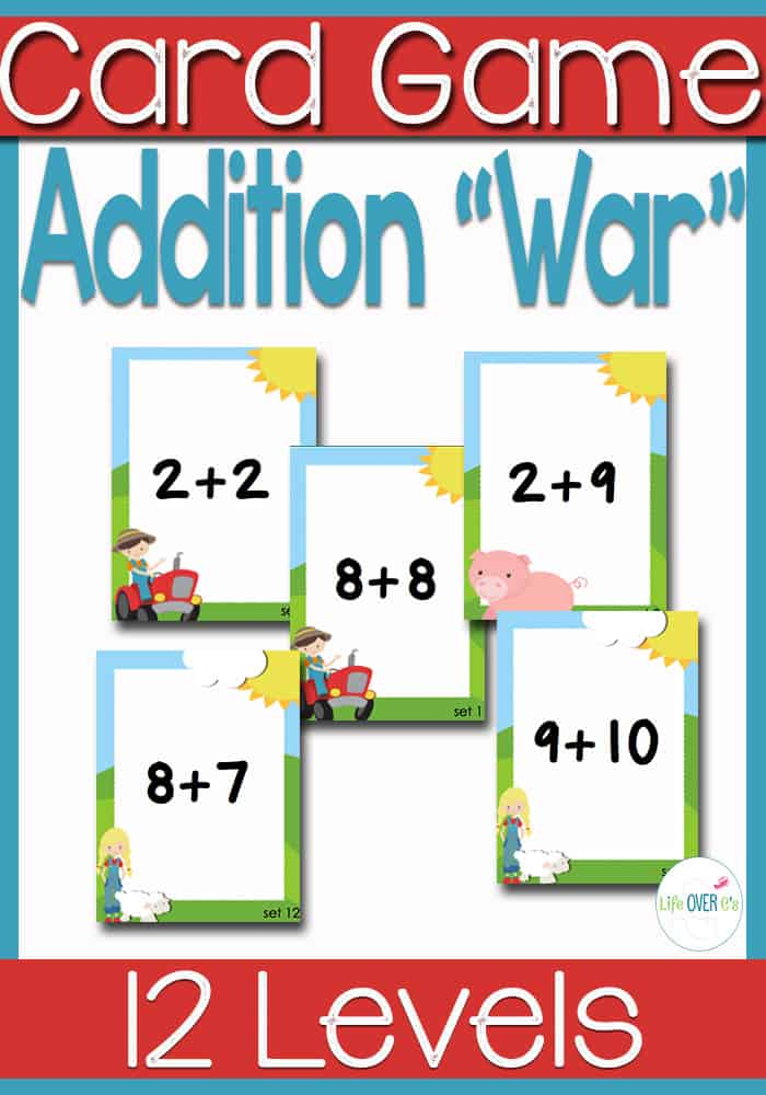 image relating to Printable Card Games named Addition Information 1-10 \