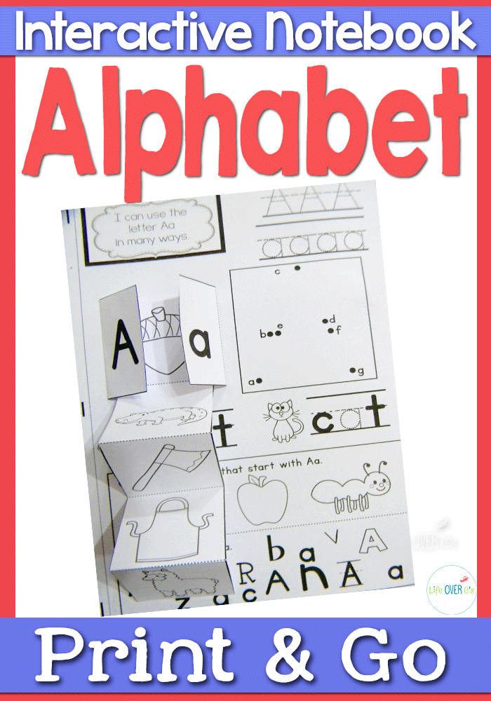 Printable Interactive Alphabet Notebook - Supplement