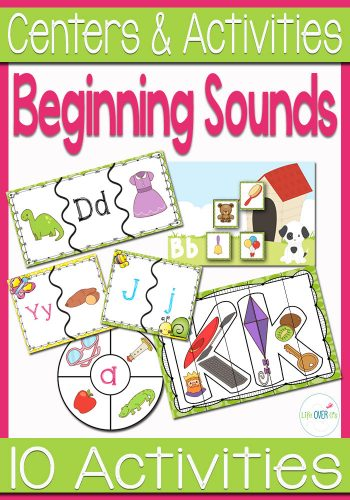 10 beginning sounds activities for beginning readers. Lots of opportunities for students to learn the sounds of each letter.