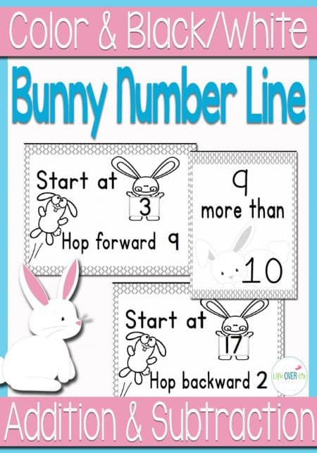 This bunny number line is so adorable! A fun gross motor activity to teach counting on, number order, addition and subtraction! Great for spring!