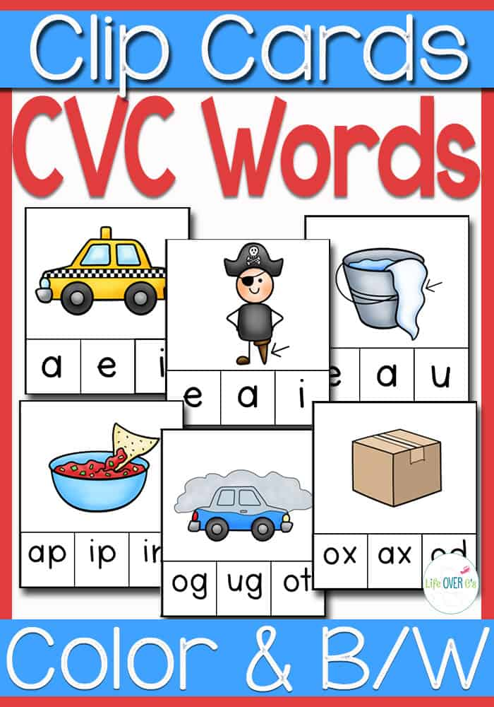 Practice CVC Word Families with this huge set of CVC Word Family Clip Cards! There are two formats to choose from. You can use the middle vowel sound or the ending word family. Love these!