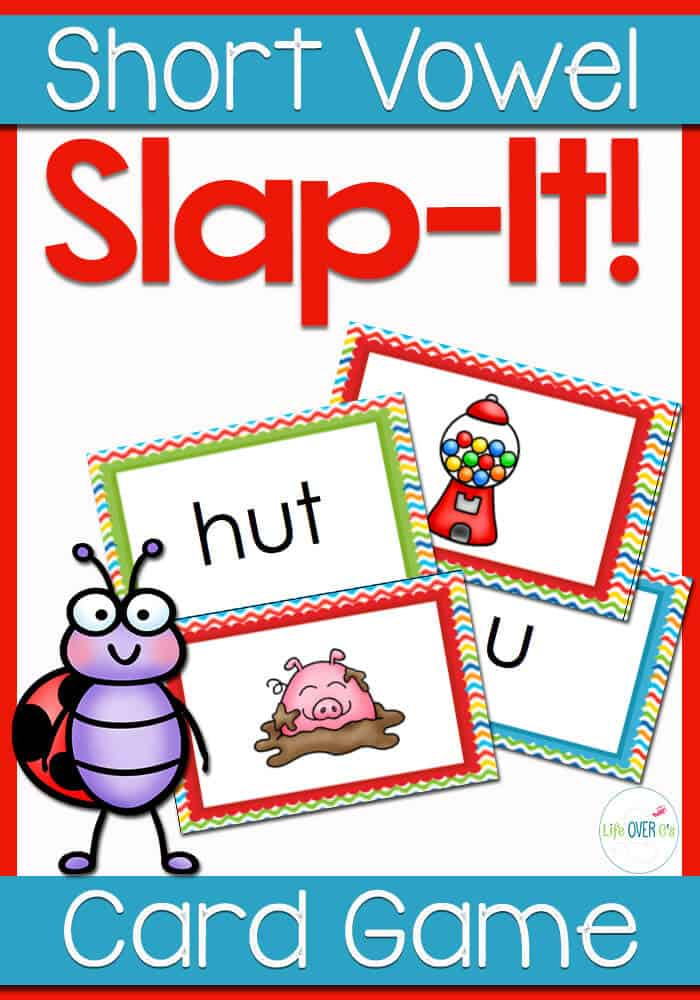 CVC Card Game: Vowel Sound Slap It!