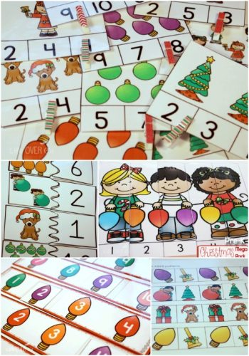 This Christmas MEGA pack for preschool and kindergarten is full of fun activities! Counting, matching, tracing, puzzles and more! This Christmas theme is perfect for our December activities!