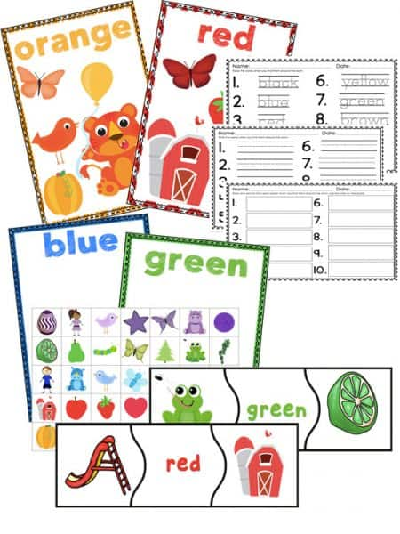 Learning colors has never been so fun! This Color Math and Literacy pack is FULL of activities!! Patterns, play dough, measurement, sorting, matching and MUCH more!!!