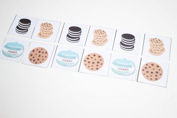 Practice counting, sorting, patterns, matching and graphing with this great pack of cookie games for preschoolers! Pair it with a snack of cookies & milk for some super preschool fun!