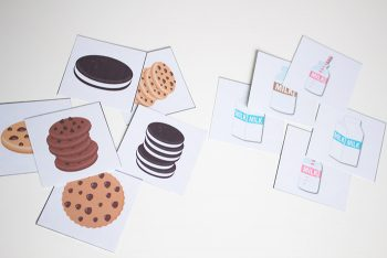 Practice counting, sorting, patterns, matching and graphing with this great pack of cookie games for preschoolers! Pair it with a snack of cookies & milk and you have some math no preschooler will resist!