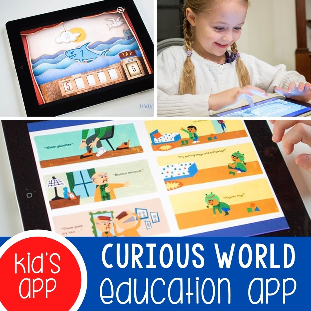 Curious World Education App for 3-7 year olds Featured Square Image