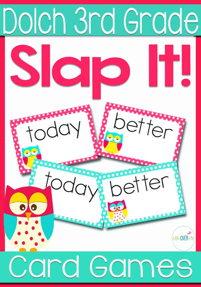 Dolch Sight Words for 3rd Grade Slap-It! Card Game