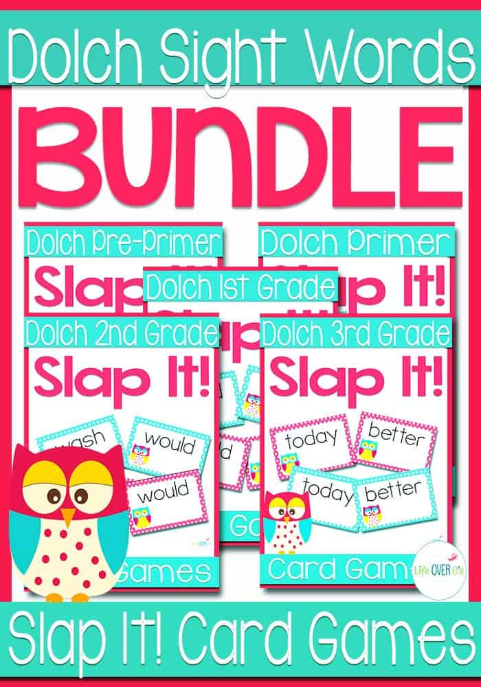Dolch Sight Words Slap-It! Card Game BUNDLE