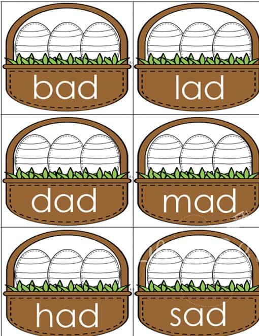 CVC Word Easter Baskets