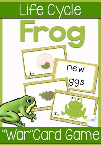 "Your students will love learning about the frog life cycle as they play this card game! The Frog Life Cycle Sequencing card game is played like a game of ""War"", but uses the stages of the frog life cycle instead of numbers. Great for a life cycle unit!"