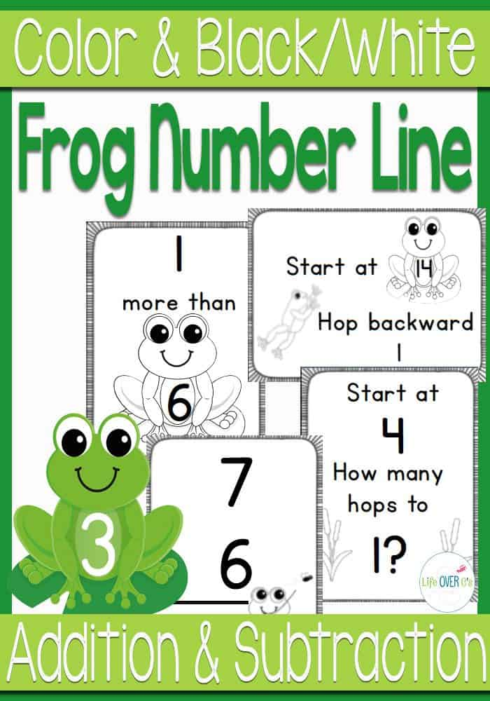 Frog number line for numbers to 20