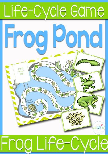 frog pond life cycle board game printable