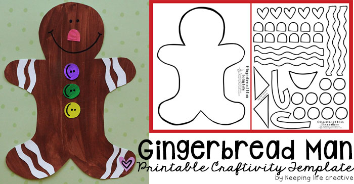 Gingerbread Man craft includes free template
