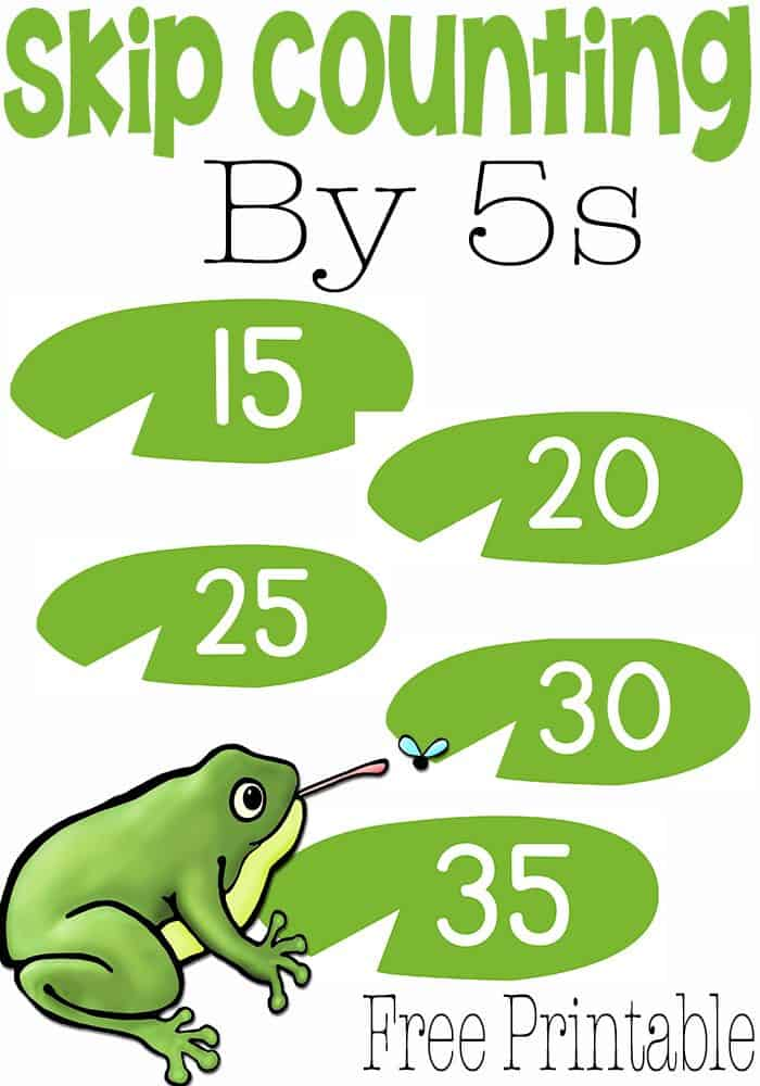 Your learners will have a blast working on their gross motor skills while skip counting by 5s through this free frog skip counting lily pad game! They will have so much fun skip counting that they won't want to stop!