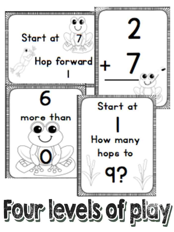 Get hopping with these Frog number lines for numbers to 20. Practice addition and subtraction with a fun kinesthetic approach!