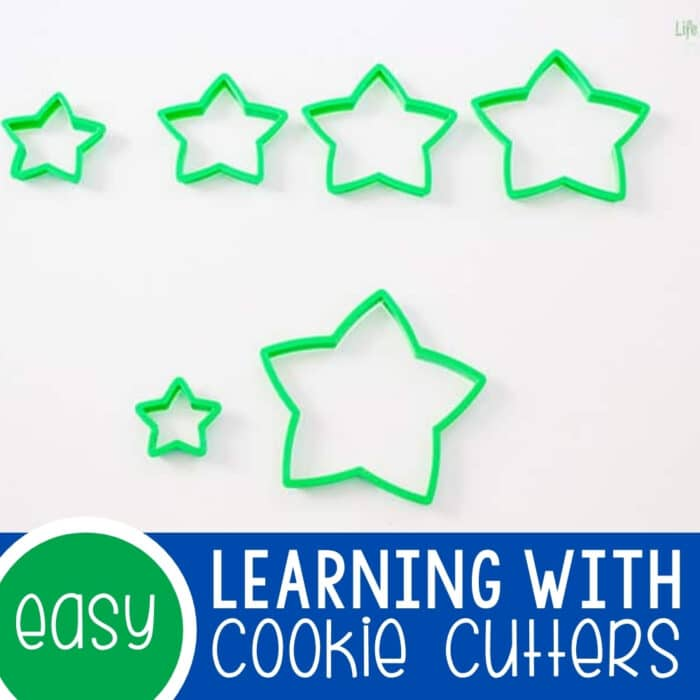 Learning Preschool Skills with Cookie Cutters Featured Square Image