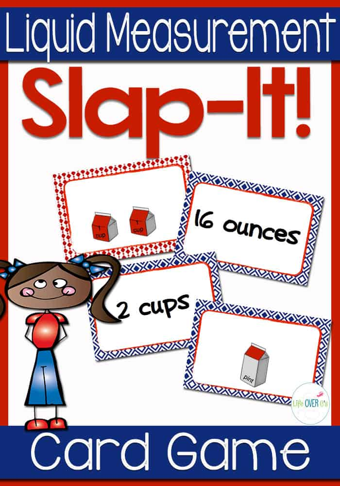 "Students will learn the difficult concept of equivalent measures for volume through a fast paced, fun game. They will compare different types of liquid measurement and decide which is larger. This is a modified form of the old favorite ""Slap Jack."" So much fun!"