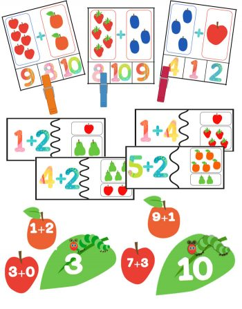 Your students will have so much fun learning addition to 10 with these 8 math centers and 4 printable activities. There is a strong emphasis on relating the one-to-one counting concept and composing numbers up to 10. All with a fun caterpillar theme!!