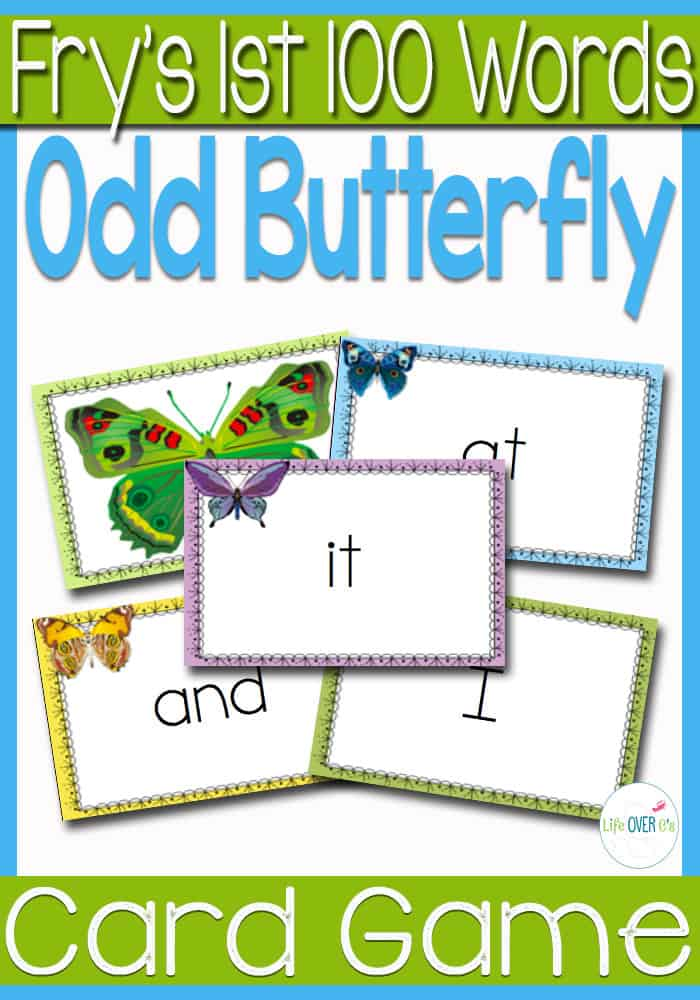 Sight Word Card Game: The Odd Butterfly Fry's 1st 100 Words
