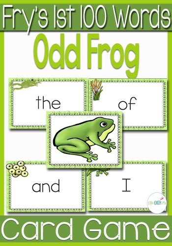 frog sight word cards