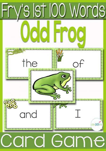 Fry's 1st 100 Words Card Game: Odd Frog