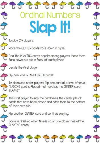 Slap It instructions