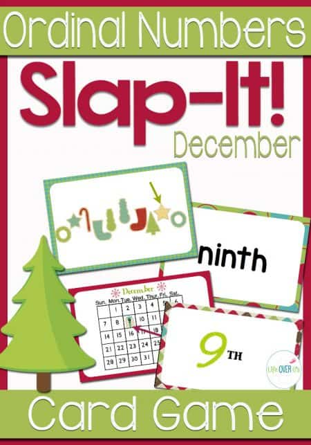 Students will learn ordinal numbers through a fast-paced, fun game! This December Ordinal Numbers card game reviews ordinal numbers 1st-10th with a fun December/Christmas Theme! The kids can look at objects in a line, dates on a calendar, numerals and words to learn what each of them means.