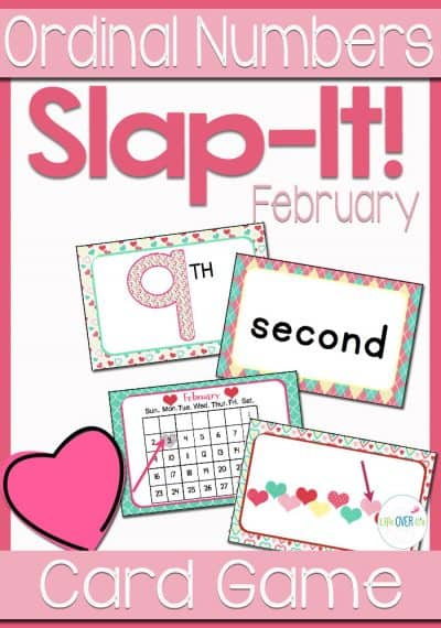 Students will learn ordinal numbers through a fast-paced, fun game! This February Ordinal Numbers card game reviews ordinal numbers 1st-10th with an exciting February/Valentine's theme.