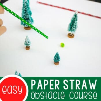 Paper Straw Obstacle Course for Winter Featured Square Image