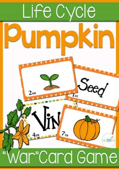 These pumpkin life cycle card games are perfect for learning about life cycles and sequencing!