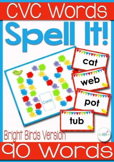 Get students sounding out CVC word families with this fun spelling board game. Students will read and spell up to 90 CVC words!