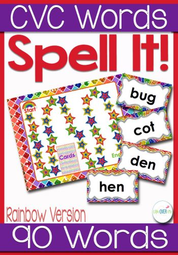 Get students sounding out CVC word families with this fun spelling board game. Students will read and spell up to 90 CVC words! A great way to get them reading!