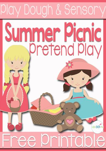 summer picnic pretend play printable