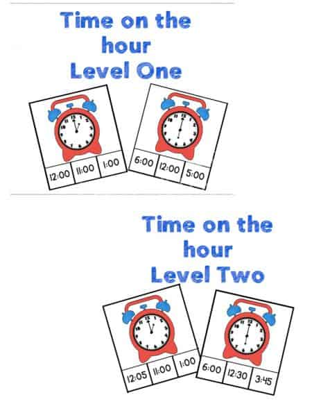 There are 192 time clip cards in this awesome pack! Multiple levels for learning to tell time!