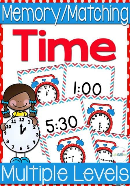 Time memory cards for all levels of learning to tell time! A fun game for math centers! There is time to the hour, half hour, fifteen minutes and five minutes included in this set.