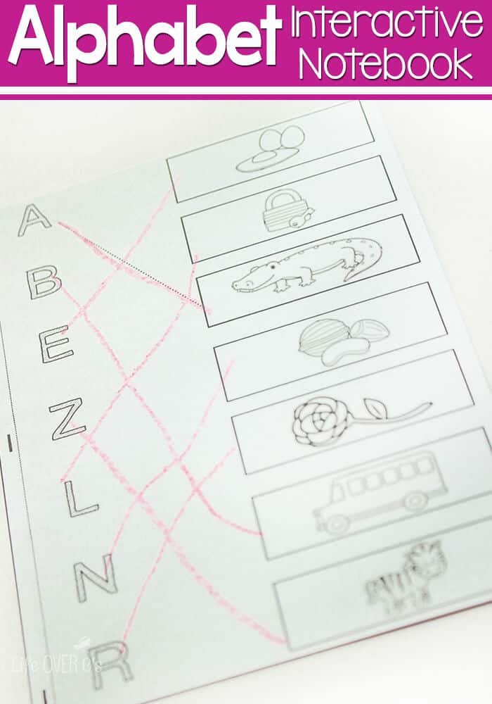 alphabet mini-notebook