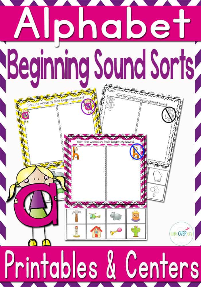 Alphabet Sound Recognition Sorts